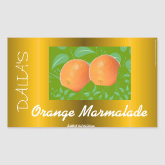 Orange marmalade label