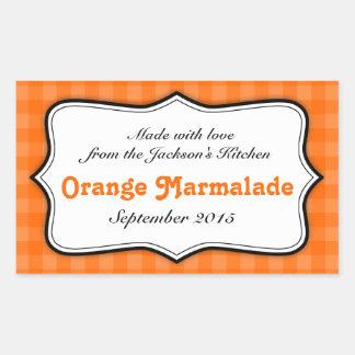 Orange Marmalade preserve jam food label sticker