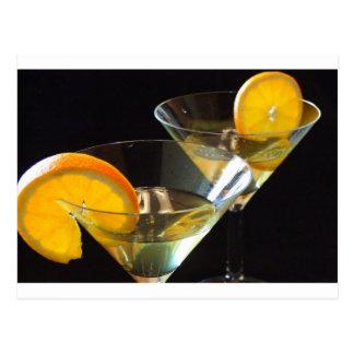 Orange Martini Postcard