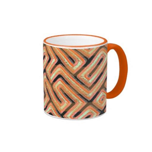 Orange Maze Mug