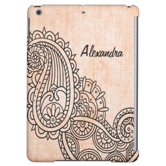 Orange Mehndi Motif Savvy iPad Air Case