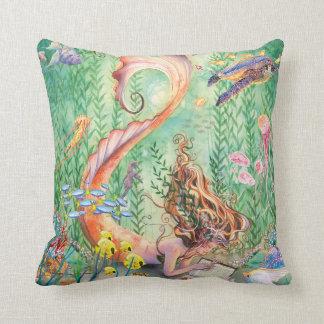 Orange Mermaid Pillow - Medium