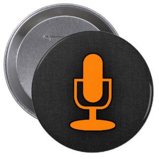 Orange Microphone Pin