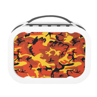 Orange Military Camouflage Lunch Boxes