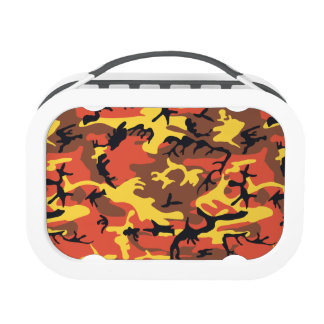 Orange Military Camouflage Lunchbox