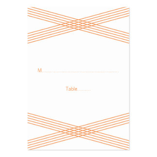 Orange Modern Deco Wedding Place Cards Pack Of Chubby Business Cards