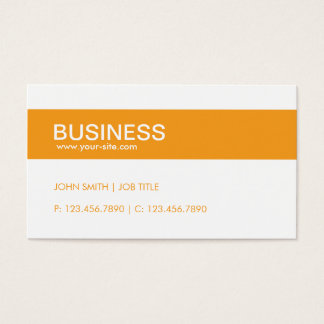 Orange Modern Stylish Classy Plain Simple Business Card