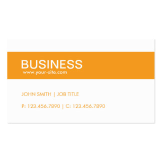 Orange Modern Stylish Classy Plain Simple Pack Of Standard Business Cards