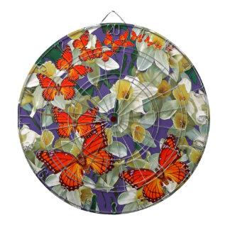 Orange Monarch Butterflies Narcissus Art Dart Board