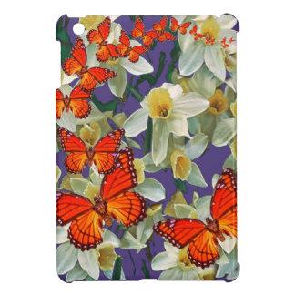 Orange Monarch Butterflies Narcissus Art iPad Mini Case