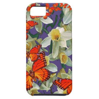 Orange Monarch Butterflies Narcissus Art iPhone 5 Covers