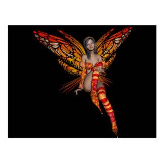 Orange Monarch Butterfly 3D Pixie - Fairy 1 Postcards