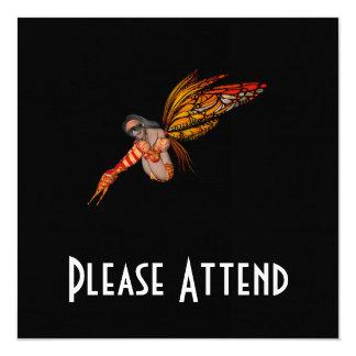 Orange Monarch Butterfly 3D Pixie - Fairy 2 Custom Invites