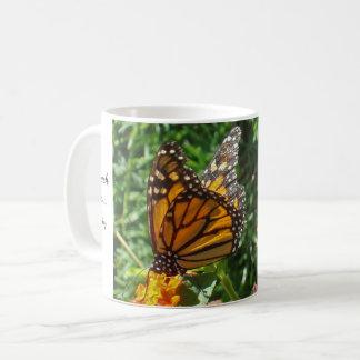Orange Monarch Butterfly Encouraging Hopeful Coffee Mug