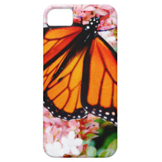 Orange Monarch on pink flowers iPhone 5 Cover