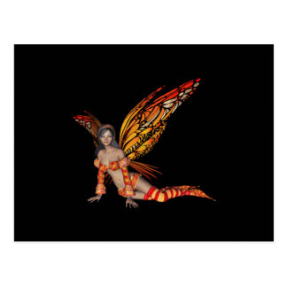 Orange Monarch Pixie Butterfly Fairy 3 - Post Cards