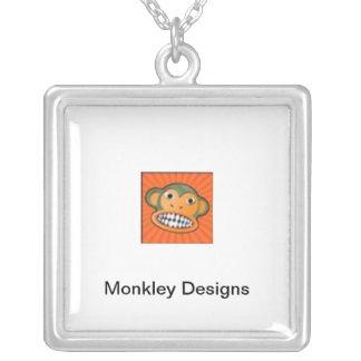 Orange Monkley Logo Necklace