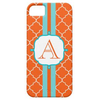 Orange  Monogram Phone 5 Case