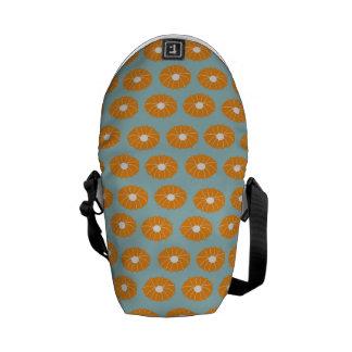 Orange Morning Glories Courier Bag