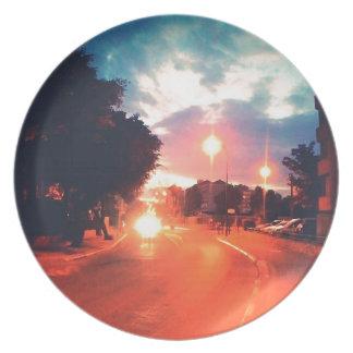Orange morning plate