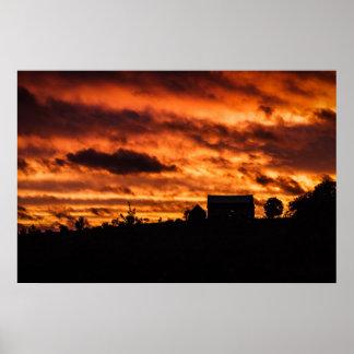 Orange Morning Sky - Windsor, NS Print