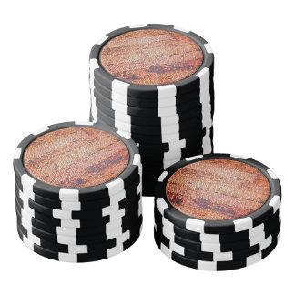 Orange Mosaic pattern Poker Chips