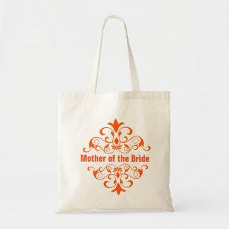 Orange Mother of the Bride Wedding Tote Bag