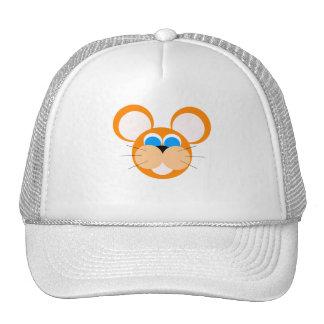 orange mouse mesh hats