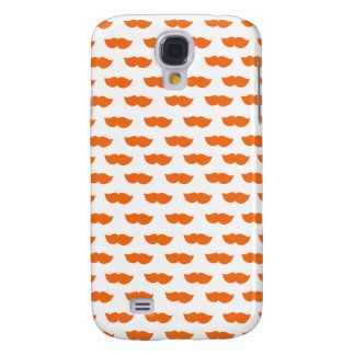 Orange Moustaches Samsung Galaxy S4 Case