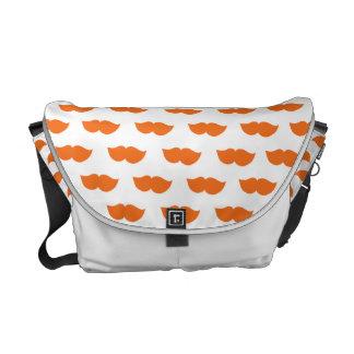 Orange Moustaches Commuter Bags
