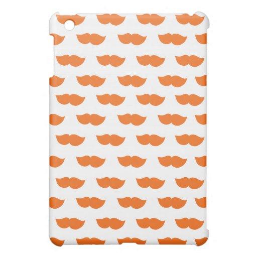 Orange Moustaches Case For The iPad Mini