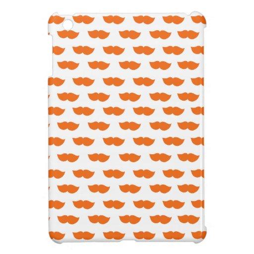 Orange Moustaches iPad Mini Covers