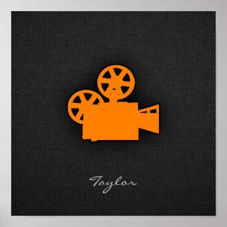 Orange Movie Camera Poster
