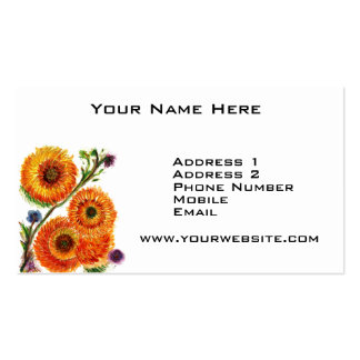 Orange Mums Business Card