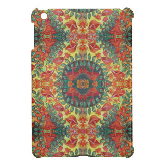 orange mushroom mandala i-pad mini case case for the iPad mini