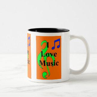 Orange Musical Notes Mug