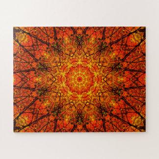 Orange Nature | Mandala Jigsaw Puzzle