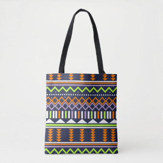 Orange, Navy, lime shape Tote Bag