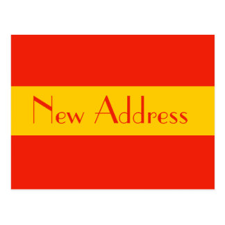 orange new address postcard