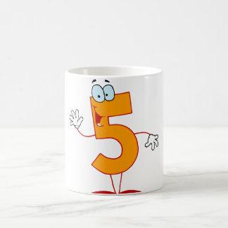 Orange Number 5 Mug