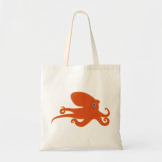 Orange Octopus Canvas Bag