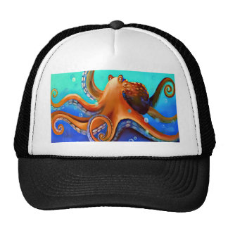 Orange Octopus Cap