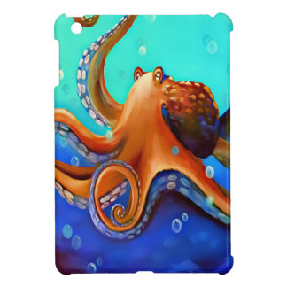 Orange Octopus Cover For The iPad Mini