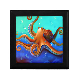 Orange Octopus Gift Box