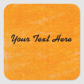 Orange Oil Pastel Square Sticker | Customize