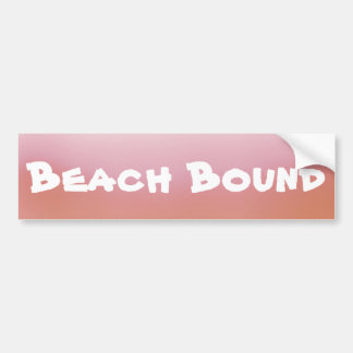 Orange Ombre Beach Bound Bumper Sticker
