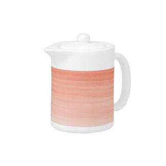Orange ombré teapot