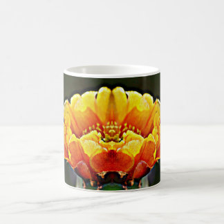 Orange on Black Cactus Bloom Coffee Mug
