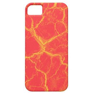 Orange on Red Cracks iPhone 5 Case