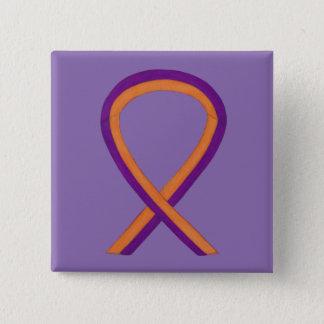 Orange & Orchid Awareness Ribbon Custom Pins